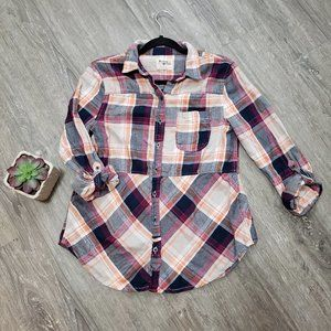 Holding Horses Anthropologie Plaid Flannel Shirt S